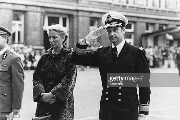 Prince Albert of Belgium and Princess Paola of Belgium attend a military presentation for their son, Prince Philippe of Belgium, who is leaving home...
