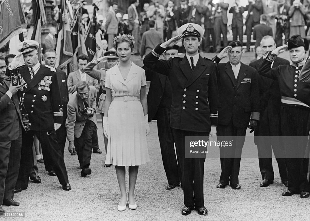 Prince Albert of Belgium, later King Albert II of Belgium and Princess Paola of Belgium (later Queen Paola of Belgium) announce their engagement to the people of Brussels from the balcony of the Hotel de Ville, Brussels, 8th June 1969.