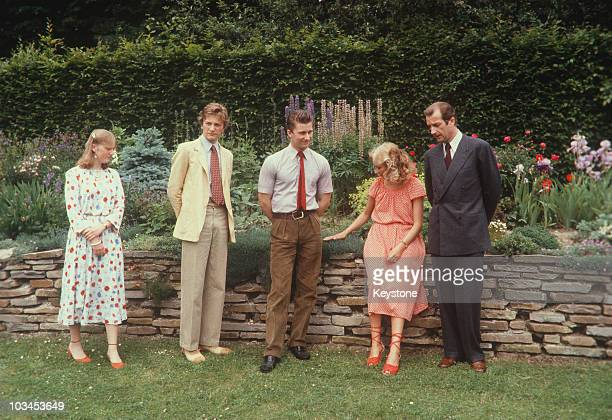 Prince Albert of Belgium with wife Princess Paola daughter Princess Astrid and sons Princes Laurent and Philippe circa 1980