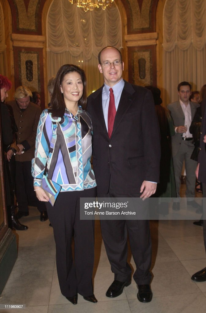 HSH Prince ALbert of Monaco and Andrea Wong, ABC Television Network, Sr Vice President Alternative Series & Specials