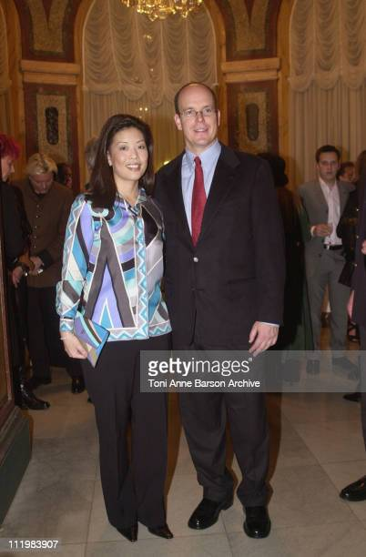 HSH Prince ALbert of Monaco and Andrea Wong ABC Television Network Sr Vice President Alternative Series Specials