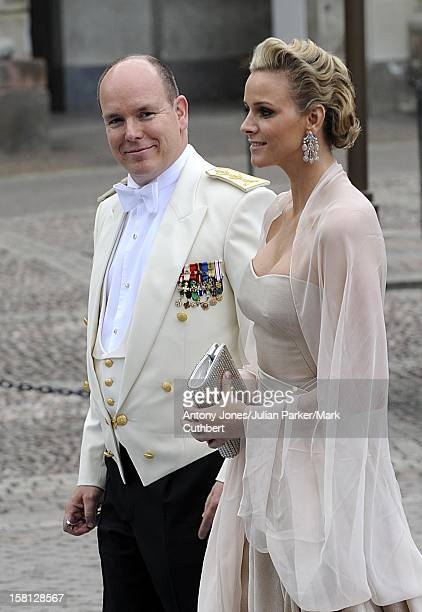 Prince Albert Of Monaco And Charlene Wittstock At The Wedding Of Crown Princess Victoria Of Sweden And Daniel Westling At Stockholm Cathedral