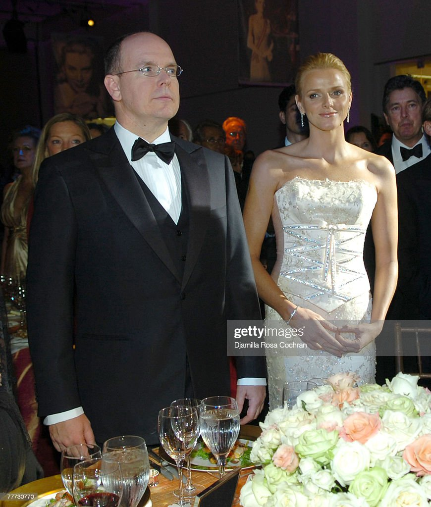 Prince Albert of Monaco and Charlene Wittstock attend the 25th Anniversary Princess Grace Awards Gala at Sotheby's on October 25th, 2007 in New York City, New York.