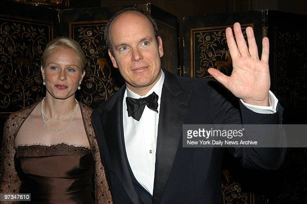 Prince Albert of Monaco and date Alicia Warlick are on hand at the WaldorfAstoria hotel for the 20th annual Princess Grace Awards gala As well as...