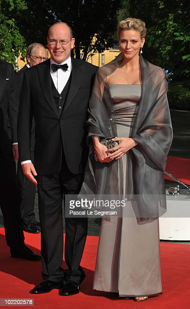 Prince Albert of Monaco and girlfriend Charlene Wittstock attend the Government PreWedding Dinner for Crown Princess Victoria of Sweden and Daniel...