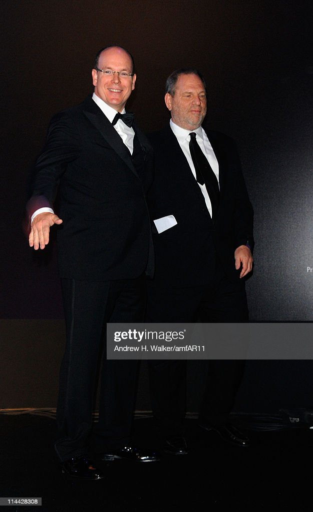 Prince Albert of Monaco and Harvey Weinstein attend amfAR's Cinema Against AIDS Gala during the 64th Annual Cannes Film Festival at Hotel Du Cap on May 19, 2011 in Antibes, France.