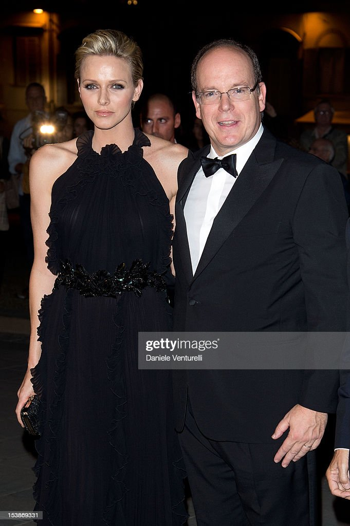 Prince Albert of Monaco and princess Charlene of Monaco attend the 2012 Ballo del Giglio at Palazzo Pitti on October 10, 2012 in Florence, Italy.