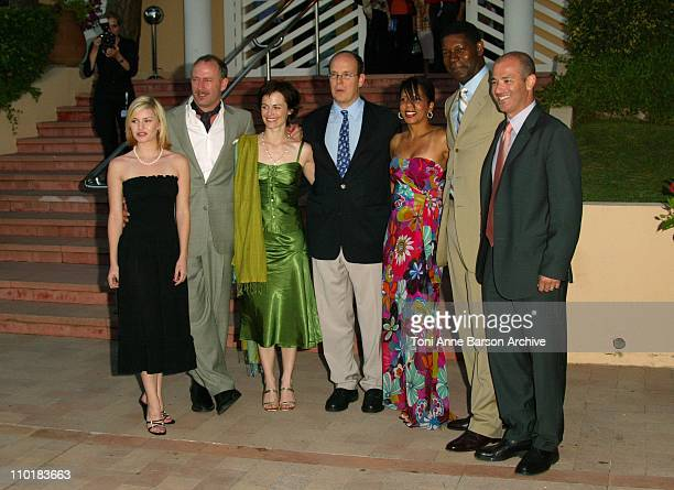 "Prince Albert of Monaco and the Cast of ""24 hour"" : Elisha Cuthbert, Xander Berkeley, Sarah Clark, Dennis Haysbert and Penny Johnson Jerald"