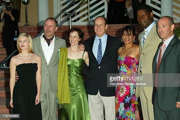 "Prince Albert of Monaco and the Cast of ""24hour"" : Elisha Cuthbert, Xander Berkeley, Sarah Clark, Dennis Haysbert and Penny Johnson Jerald"