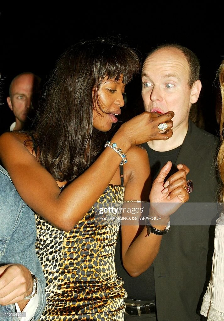 Prince Albert Of Monaco At The Birthday Of Naomi Campbell In Saint Tropez, France On May 18, 2002. : News Photo