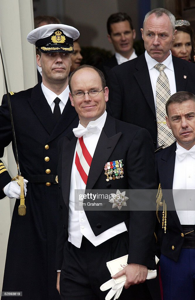 HSH Prince Albert of Monaco at the wedding of the Crown Prince of Denmark, Copenhagen, Denmark, May 14 2004.