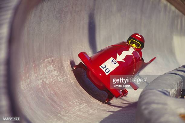 Prince Albert of Monaco competes in the bobsled event at the 1994 Winter Olympics