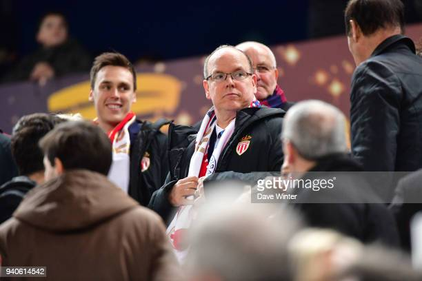 Prince Albert of Monaco during the Final of the French League Cup between Paris Saint Germain and AS Monaco on March 31 2018 in Bordeaux France