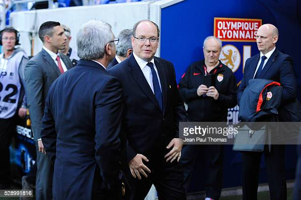 Prince Albert of Monaco during the football french Ligue 1 match between Olympique Lyonnais and As Monaco at Stade des Lumi����res on May 7 2016 in...
