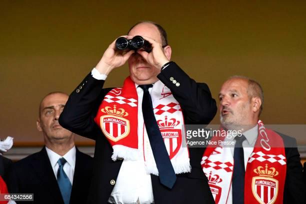 Prince Albert of Monaco during the Ligue 1 match between As Monaco and AS Saint Etienne at Stade Louis II on May 17, 2017 in Monaco, Monaco.