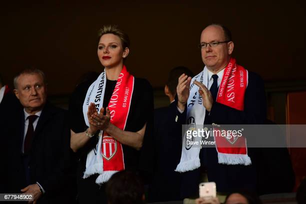Prince Albert of Monaco during the Uefa Champions League match semi final first leg between As Monaco and Juventus FC at Stade Louis II on May 3 2017...