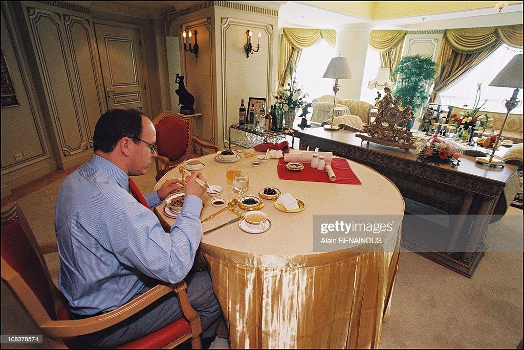 Prince Albert Of Monaco in China on June 01, 1999. : Nieuwsfoto's
