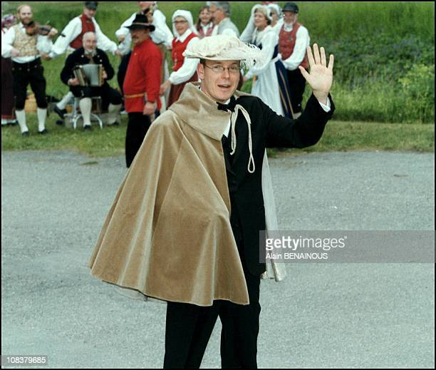 Prince Albert of Monaco in Sweden on June 18 2001