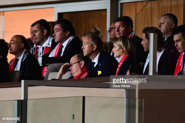 Prince Albert of Monaco is not impressed during the Uefa Champions League match, semi final first leg, between As Monaco and Juventus FC at Stade...