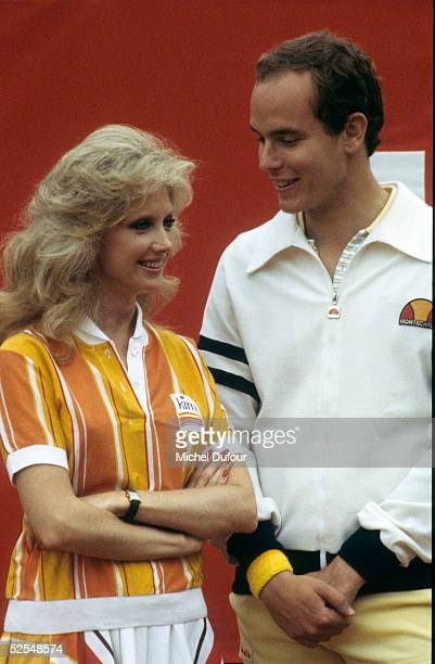 Prince Albert of Monaco is seen attending the Celebrity Tennis Tournament event with Morgan Fairchild in 1979 in Monaco With the deteriorating health...
