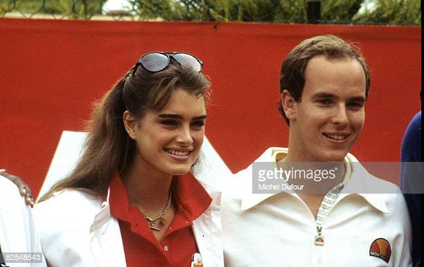 Prince Albert of Monaco is seen attending the Celebrity Tennis Tournament with actress Brook Shields in 1979 in Monaco With the deteriorating health...