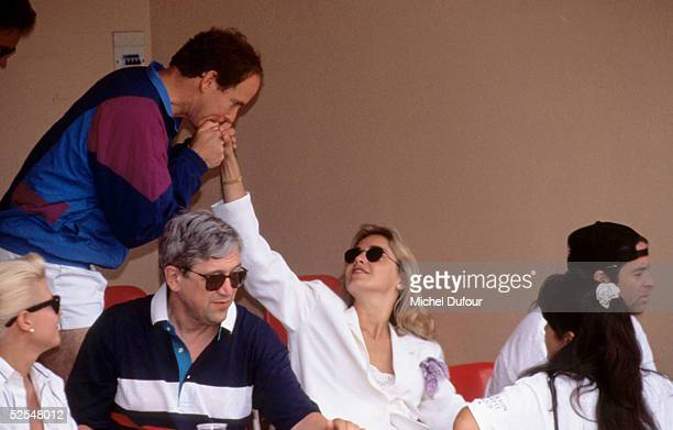 Prince Albert of Monaco is seen attending the Pro Celebrity Tournament with actress Sharon Stone in 1992 in Monaco With the deteriorating health of...