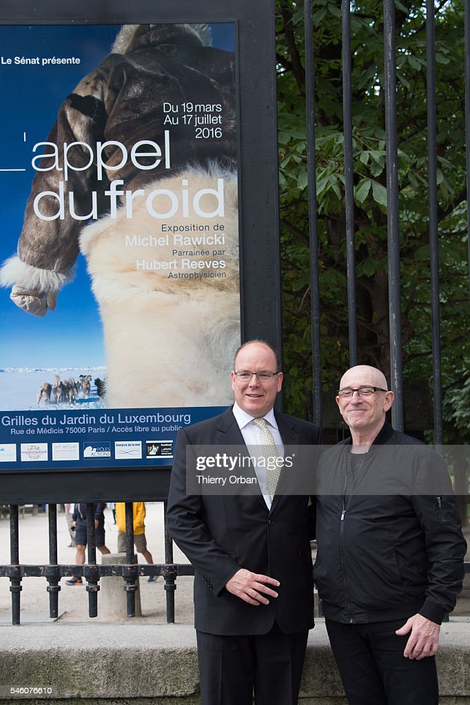 Prince Albert Of Monaco Visits Michel Rawicki's Exhibition At Jardin du Luxembourg in Paris : News Photo