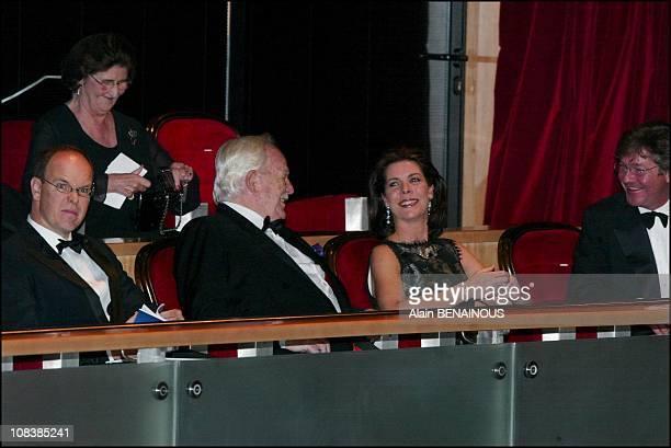 Prince Albert Prince Rainier Princess Caroline and husband Ernst August von Hanover in Monaco on December 14 2002