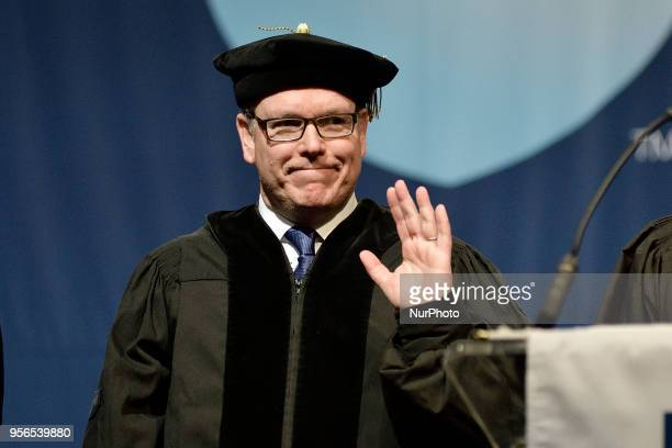 Prince Albert receives the honorary degree Doctor of Humane Letters at Commencement ceremony of Jefferson University on May 9 in Philadelphia PA USA