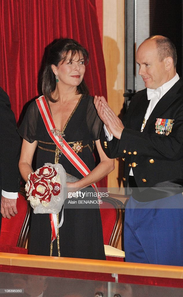 National Day in Monaco. Gala at the Grimaldi Forum in Monte Carlo, Monaco on November 19, 2008. : News Photo