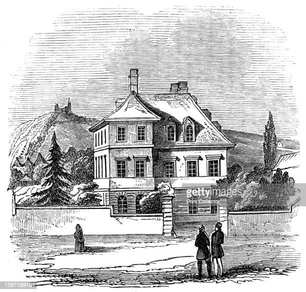 Prince Albert's Residence, at Bonn, 1845. 'At the extremity of the University-street...stands a house isolated from the surrounding buildings...It...