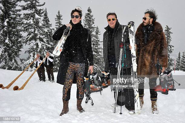 Prince Alex Postiglione and guests attend ASMALLWORLD lunch at a Mountian Chalet on December 15 2012 in Gstaad Switzerland