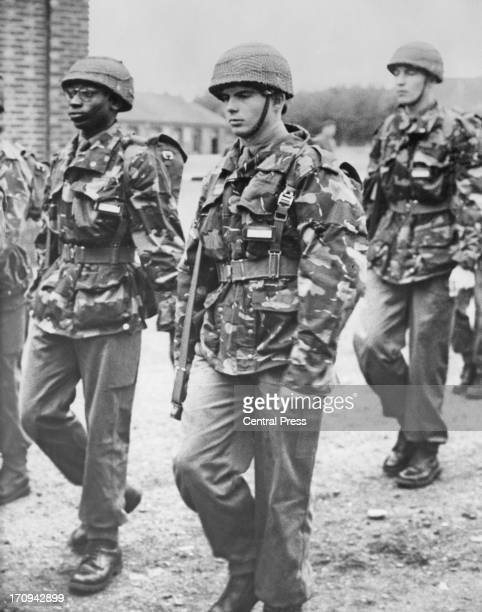 Prince Alexander of Belgium in full army kit leaves camp to set out on an exercise at the Royal Military School Kaulille Belgium 5th October 1960
