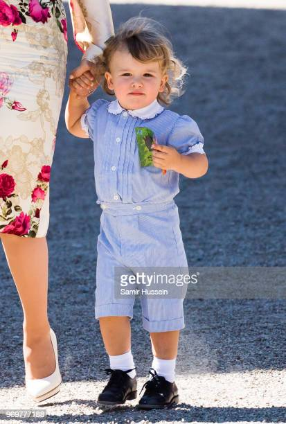 Prince Alexander of Sweden attends the christening of Princess Adrienne of Sweden at Drottningholm Palace Chapel on June 8 2018 in Stockholm Sweden