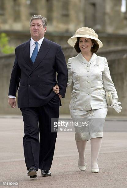Prince Alexander Of Yugoslavia With His Wife Princess Katherine Attending A Service At St George's Chapel Windsor Berkshire To Mark The 80th Birthday...