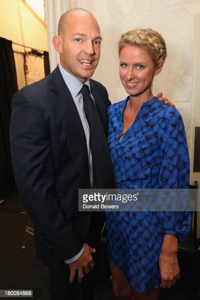 Prince Alexander von Furstenberg and Nicky Hilton attend the Samsung Galaxy Blue Room at MercedesBenz Fashion Week Spring 2014 Collections at Lincoln...