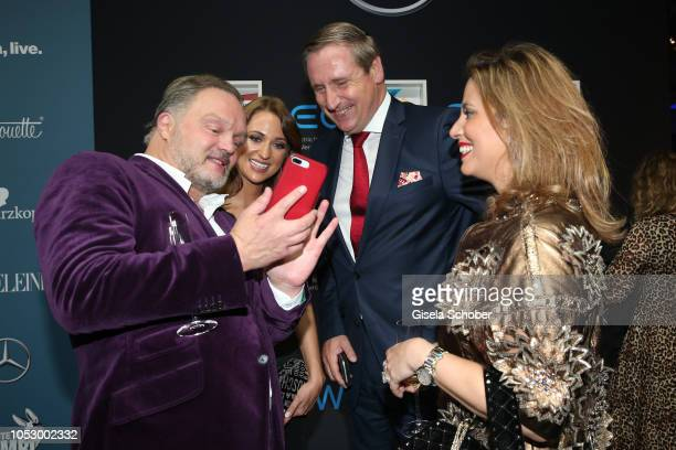 Prince Alexander zu SchaumburgLippe and his girlfriend Mahkameh Navabi and Christian von Boetticher and Madeline Willers during the Tribute to Bambi...