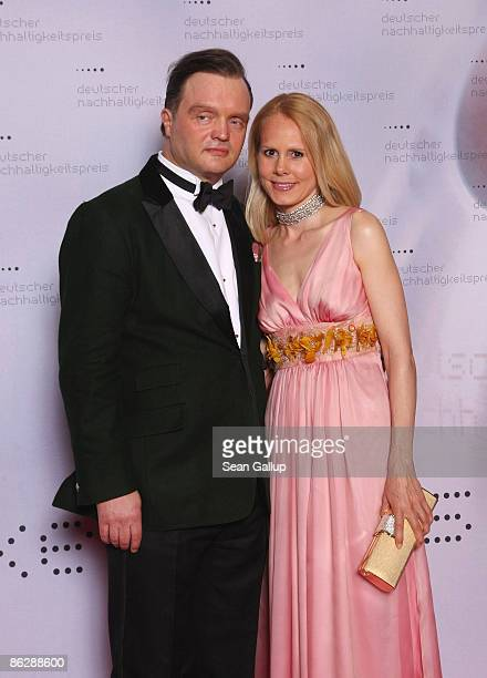 Prince Alexander zu SchaumburgLippe and his wife Nadja Anna Zsoeks attend the Sustainability Award 2009 at the German Historical Museum on April 29...