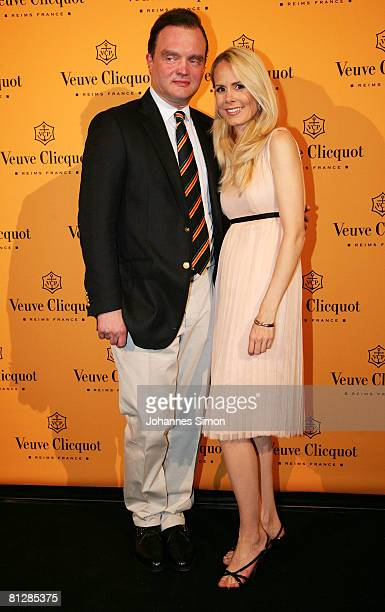 Prince Alexander zu SchaumburgLippe and his wife Nadja Anna zu SchaumburgLippe arrive for the Prix Veuve Clicquot for Entrepreneur of the Year 2008...