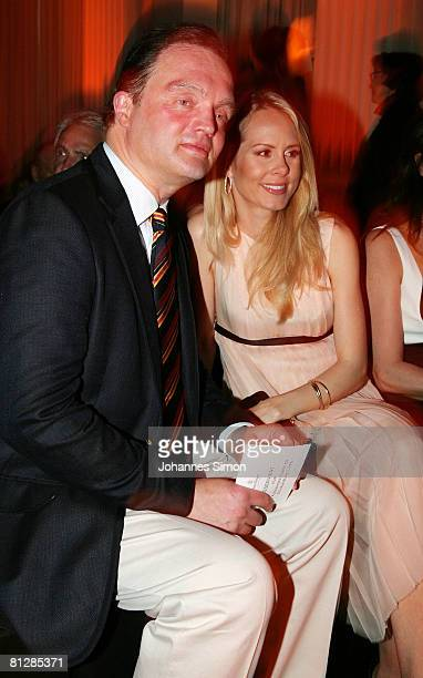 Prince Alexander zu SchaumburgLippe and his wife Nadja Anna zu SchaumburgLippe attend the Prix Veuve Clicquot for Entrepreneur of the Year 2008...