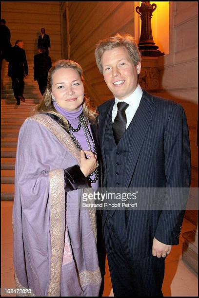 Prince Alexandre and Princesse Astrid De Liechtenstein at Pascal Renouard De Valliere Appointed Member Of De Chevalier De L'Orde National Du Merite...