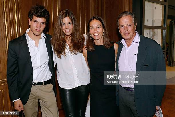 Prince Alexandre Poniatowski with his wife Princess Ariane and their children Jean and Victoria attend 'Arty Bike' Auction to benefit Association des...