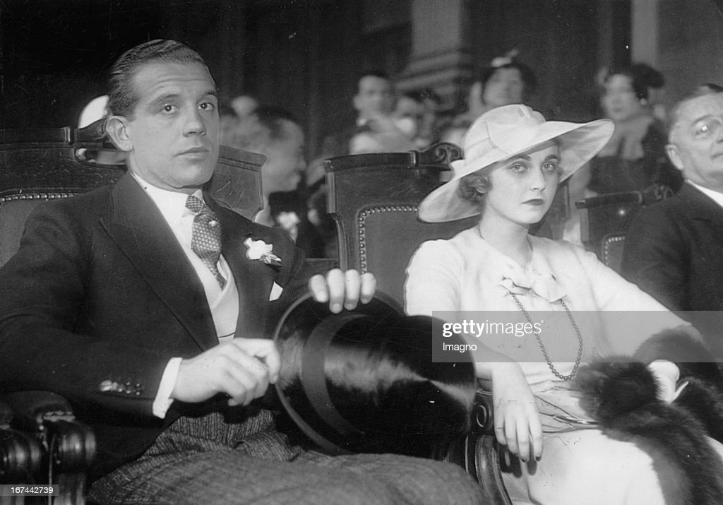 Prince Alexis Mdviani and wife Louise Astor Van Alen. Photograph. 1931. (Photo by Imagno/Getty Images) Prinz Alexis Mdviani und Ehefrau Louise Astor Van Alen. Photographie. 1931.