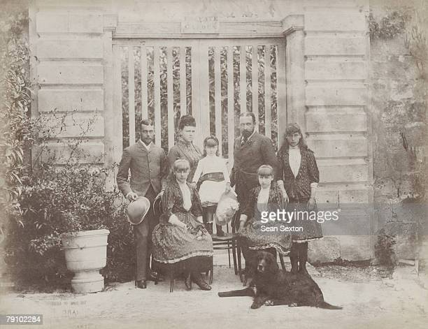 Prince Alfred, Duke of Edinburgh with his wife Marie and their four daughters, Marie , Victoria Melita , Alexandra and Beatrice at the Palace of St...
