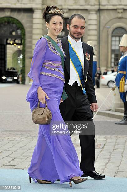 Prince Ali bin Al Hussein of Jordan and Princess Rym Ali of Jordan attends the wedding of Crown Princess Victoria of Sweden and Daniel Westling on...