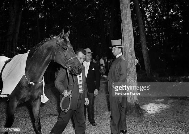 Prince Ali Kahn And His Son Karim On June 14Th 1959