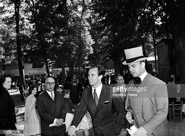 Prince Ali Khan And His Son Karim On June 14Th 1959