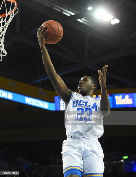 Prince Ali of the UCLA Bruins makes a lay up in the game against the Detroit Mercy Titans at Pauley Pavilion on December 3 2017 in Los Angeles...