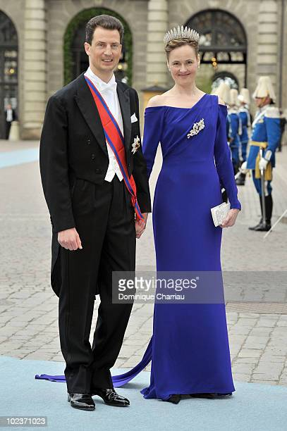 Prince Alois of Liechtenstein and Princess Sophia of Liechtenstein attend the wedding of Crown Princess Victoria of Sweden and Daniel Westling on...