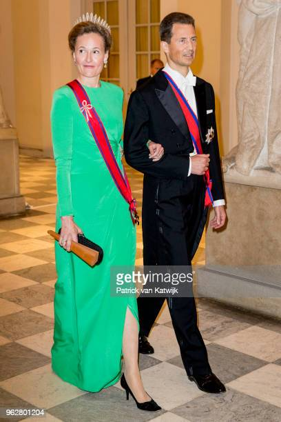 Prince Alois of Liechtenstein and Princess Sophie of Liechtenstein during the gala banquet on the occasion of The Crown Prince's 50th birthday at...